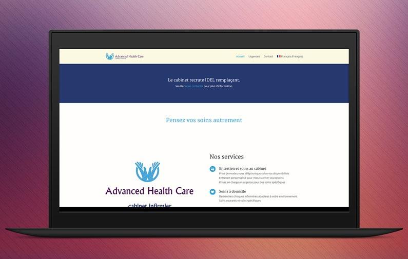 Le site internet Advanced Health Care