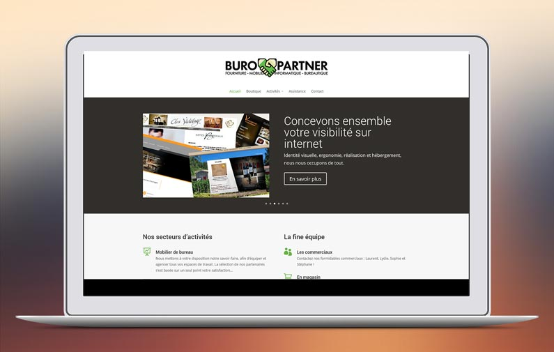 Le nouveau site internet de buro partner for Papeterie buro plus