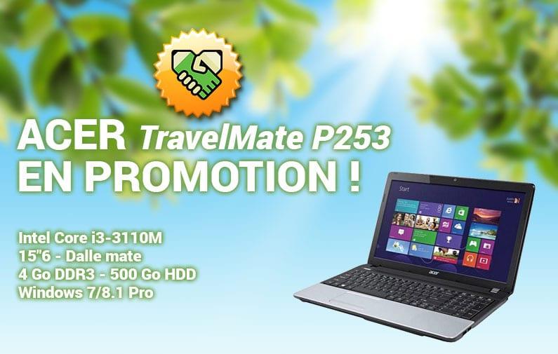 Acer TravelMate P253 en promotion !