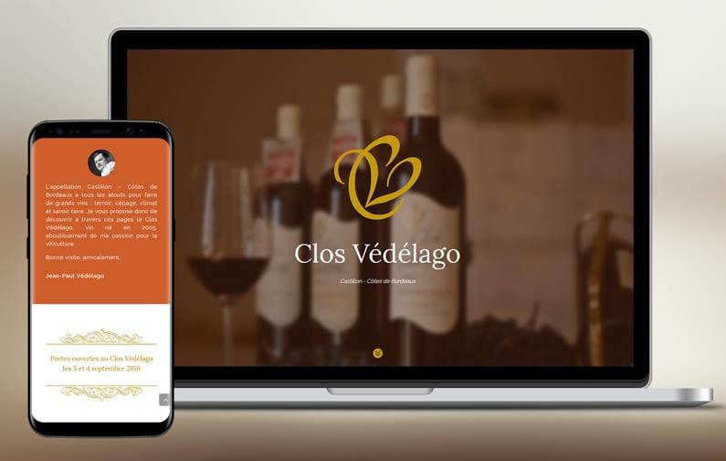Le nouveau site des vins Clos Védélago